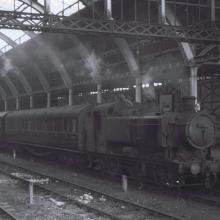 In Bristol Green Park Station on the 6:18 to Bristol Temple Meads. 29/09/61