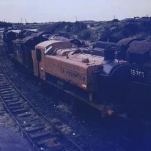 9466 in store at Cardiff Rdyr, circa June 1964.
