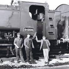 This is the restoration team, from left to right: Dennis B Howells – Graham Tyler – Brinley Howells