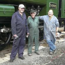 Rod, Allen and Burnie our new found friends from the Derhiem steam link.