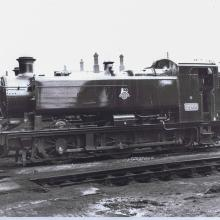 9466 at Swindon running shed shortly after delivery from messrs. R.S.S., Newcastle-upon-Tyne. Photo by George Wheeler